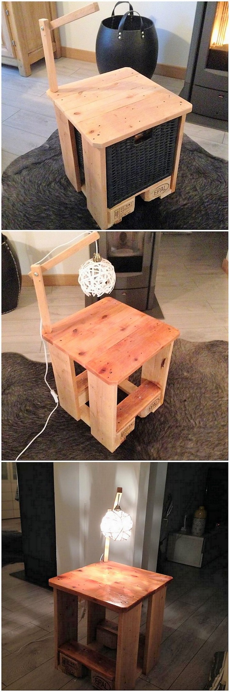 Pallet Lamp Table