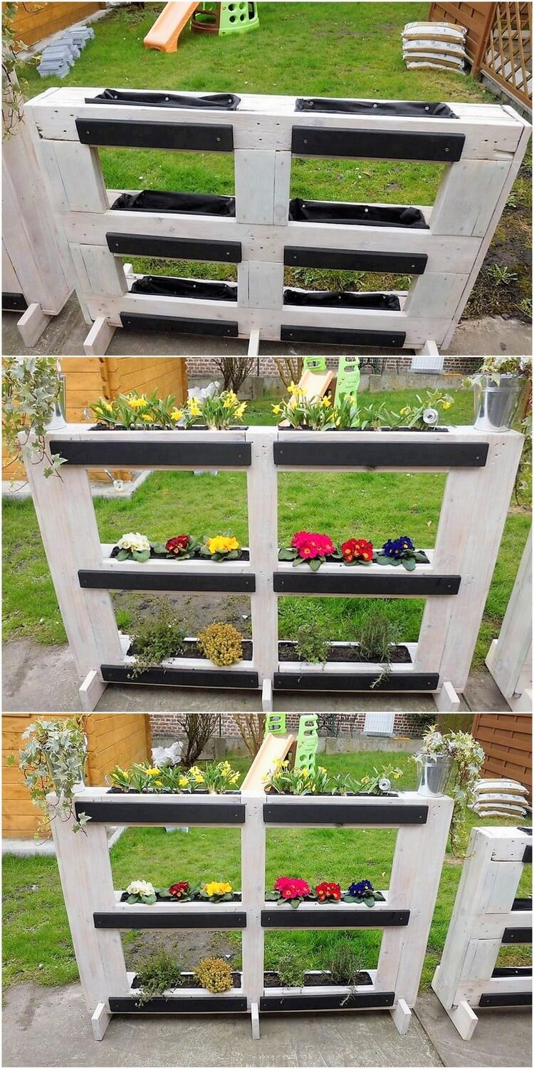 Diy vertical pallet planter step by step plan pallet for Planters made out of pallets