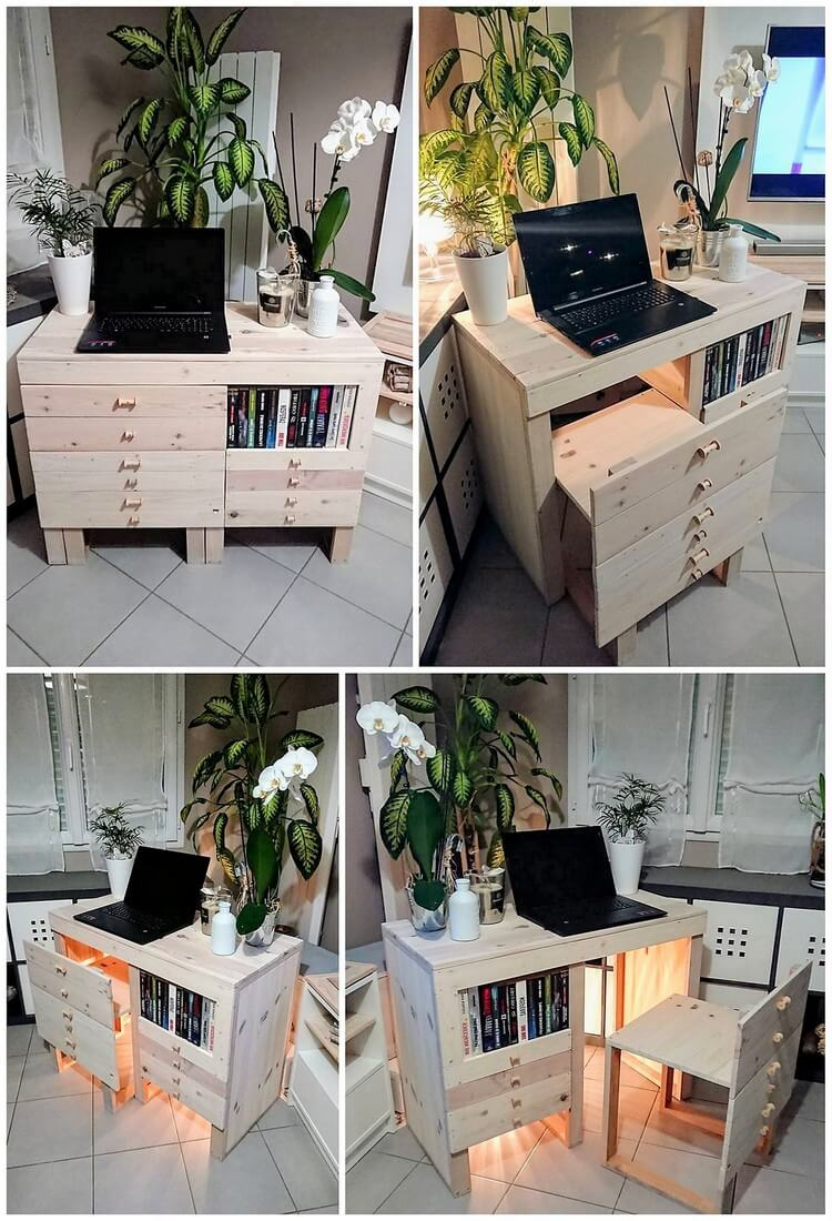 Pallet Study Desk with Chair