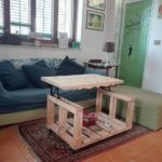 Pallet Table with Lift Up Top