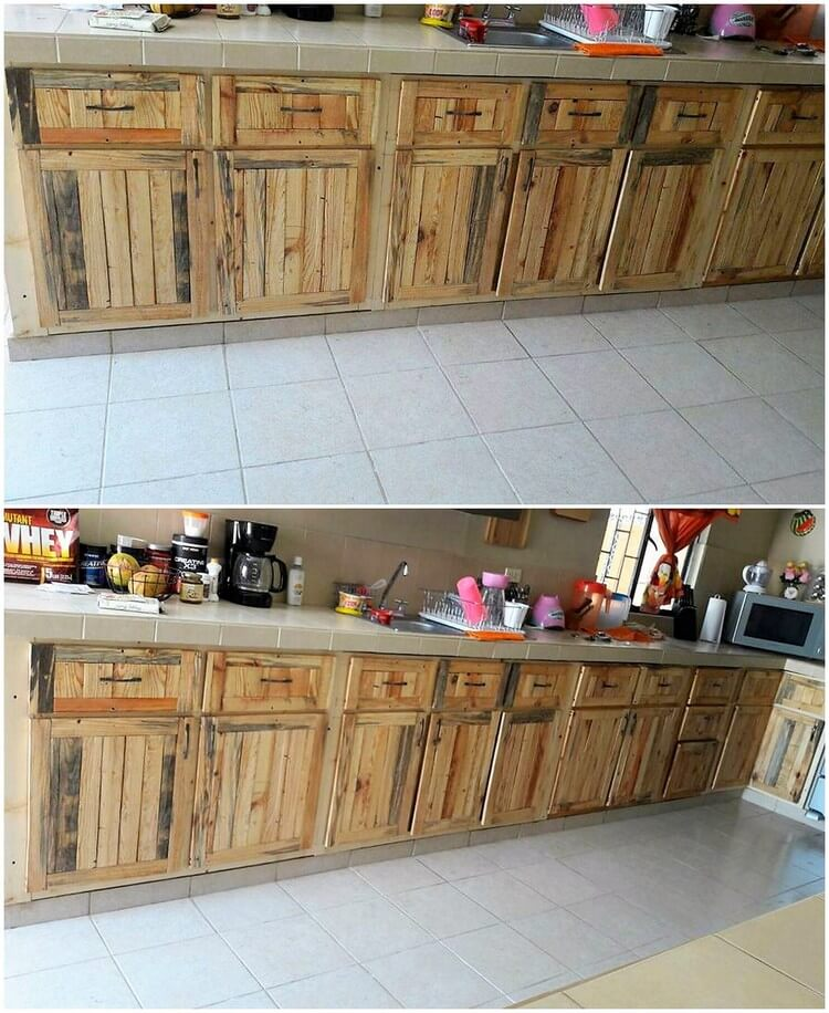 Wood Pallet Kitchen Cabinet