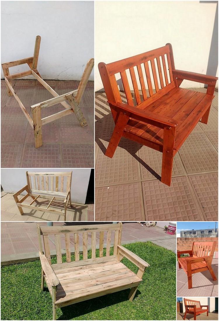 DIY Pallet Garden Bench Step by Step Plan