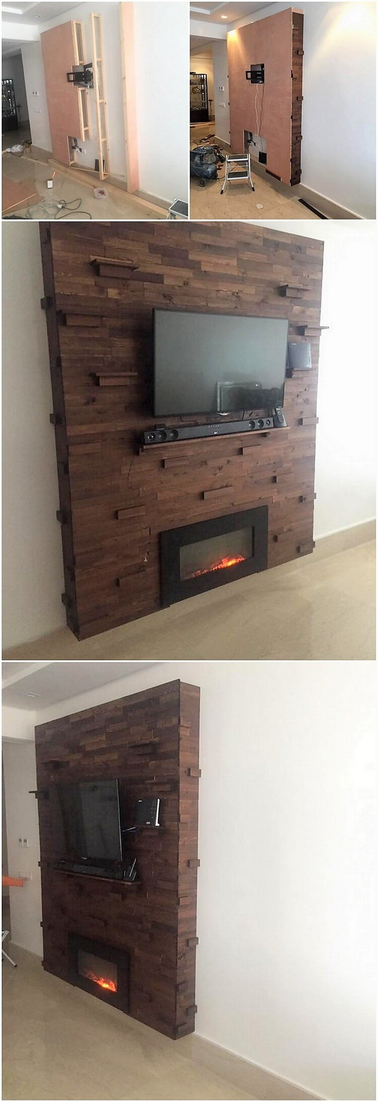 DIY Pallet Wall Paneling with LED Holder