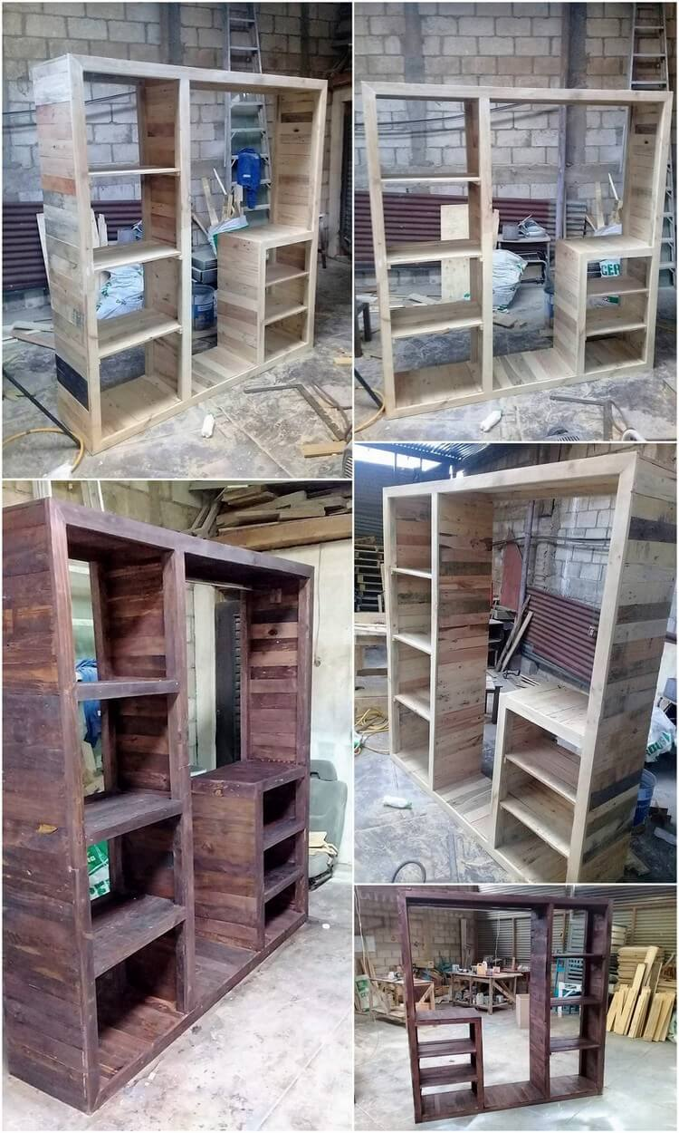Diy Recycled Wood Pallet Closet Idea Pallet Wood Projects