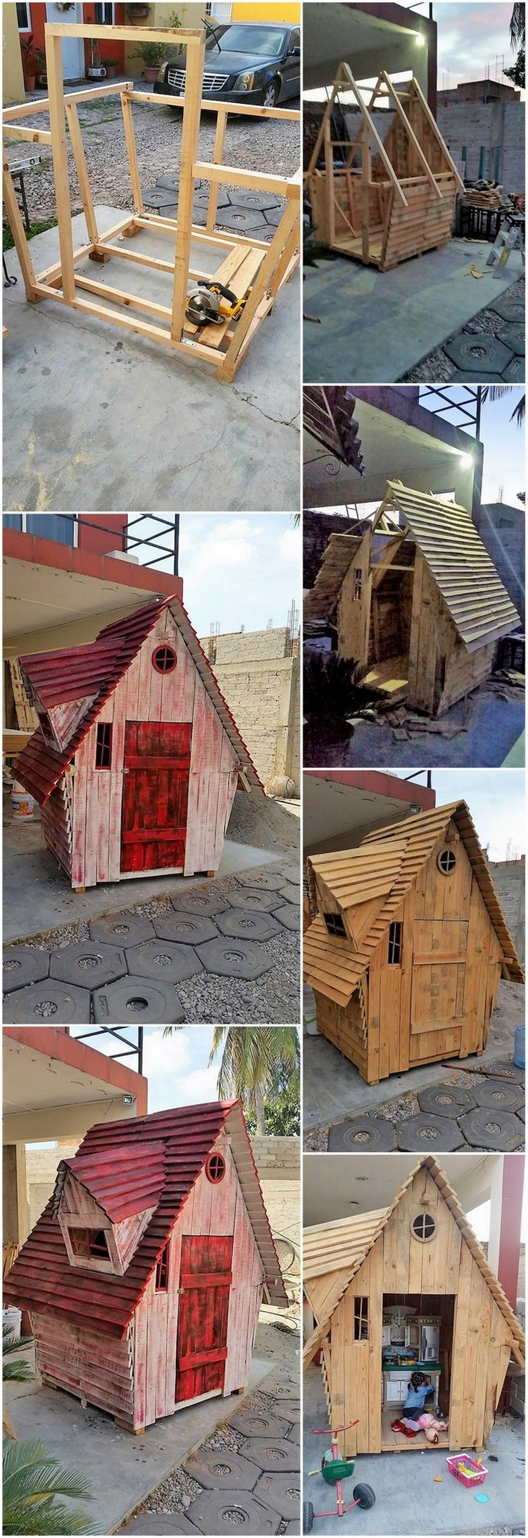 DIY Wood Pallet Garden Cabin House Step by Step Plan