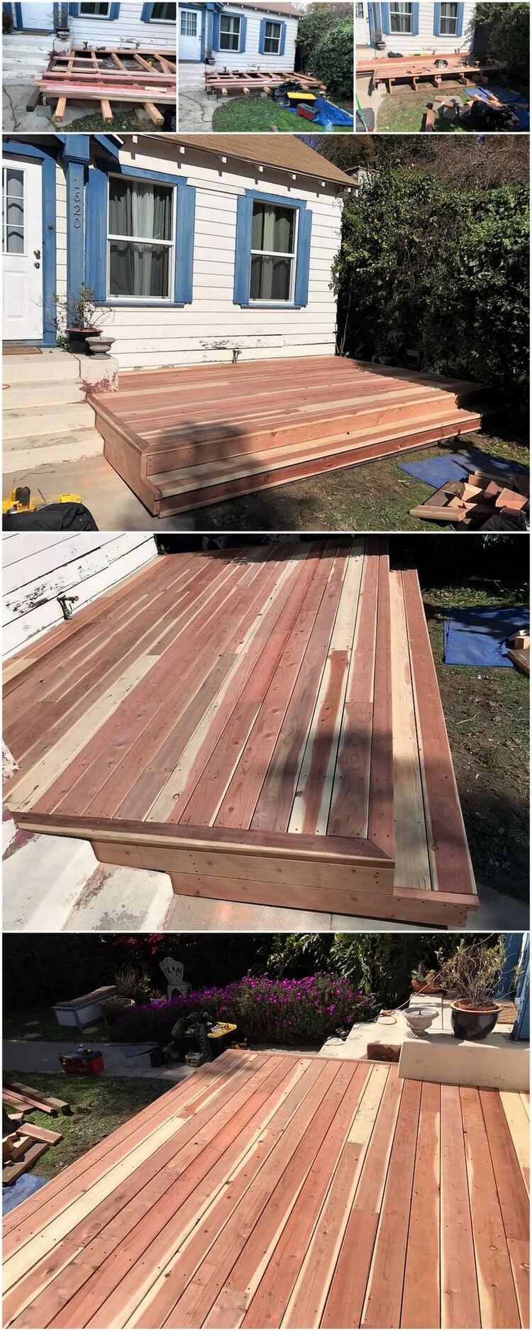 DIY Wood Pallets Garden Terrace