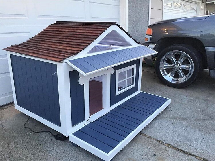 Pallet Dog House Plan