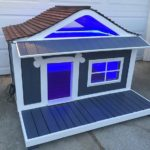 Pallet Dog House with Lights