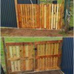 Pallet Garden Fence Gate