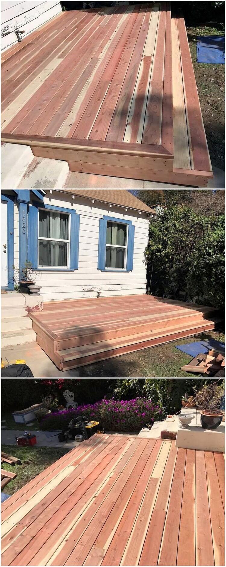 Diy Wood Pallets Garden Terrace Pallet Wood Projects