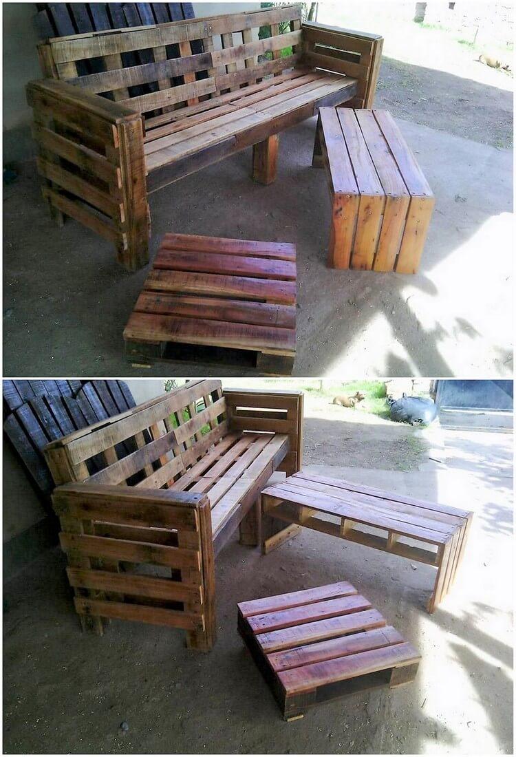 pallet outside furniture. Pallet Outdoor Furniture Outside D