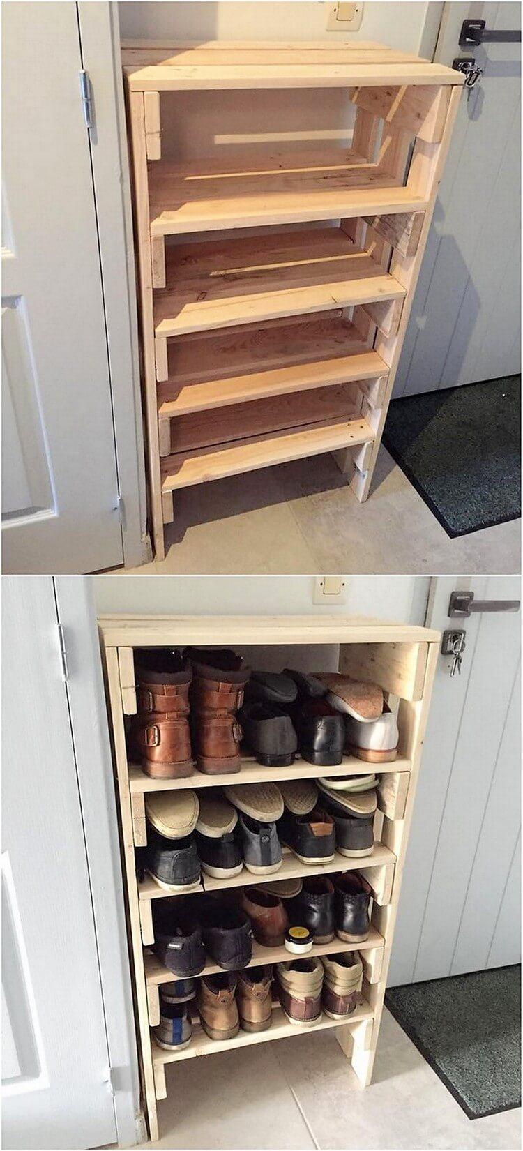 marvellous cherry wood shoe rack