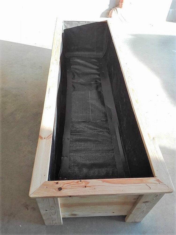 Wooden Pallet Planter Box