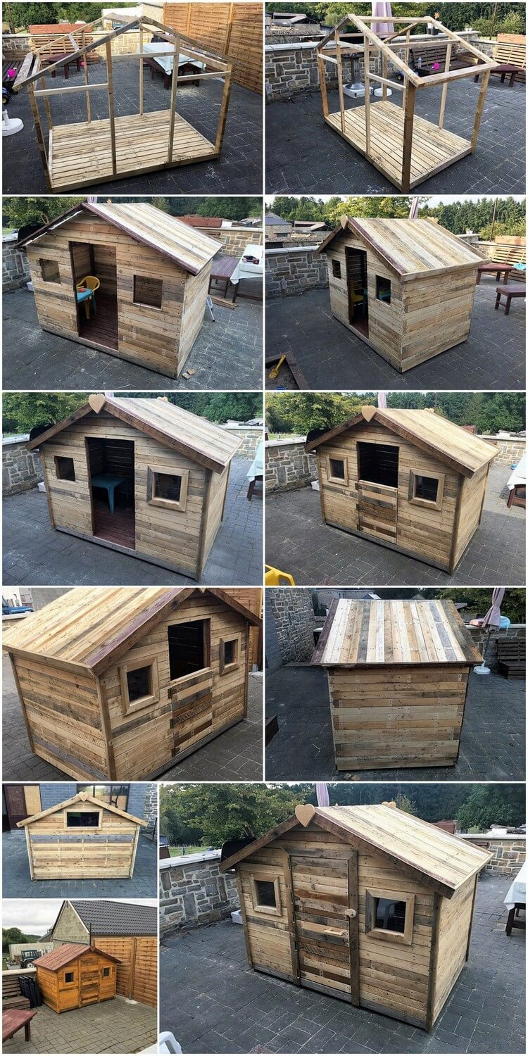DIY Pallet Tiny House or Cabin Step by Step Plan