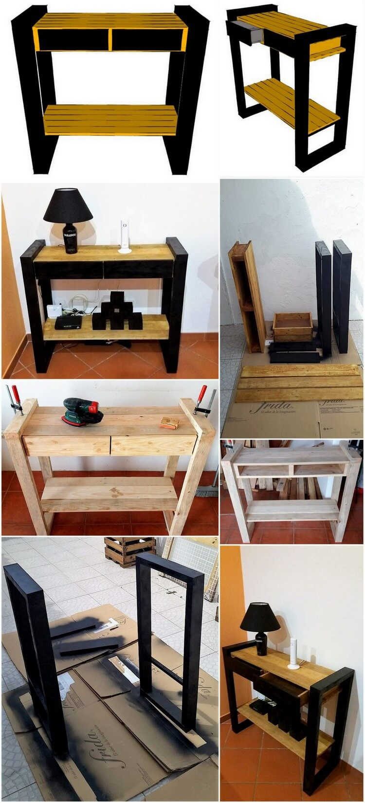 DIY Wood Pallet End Table Step by Step Plan