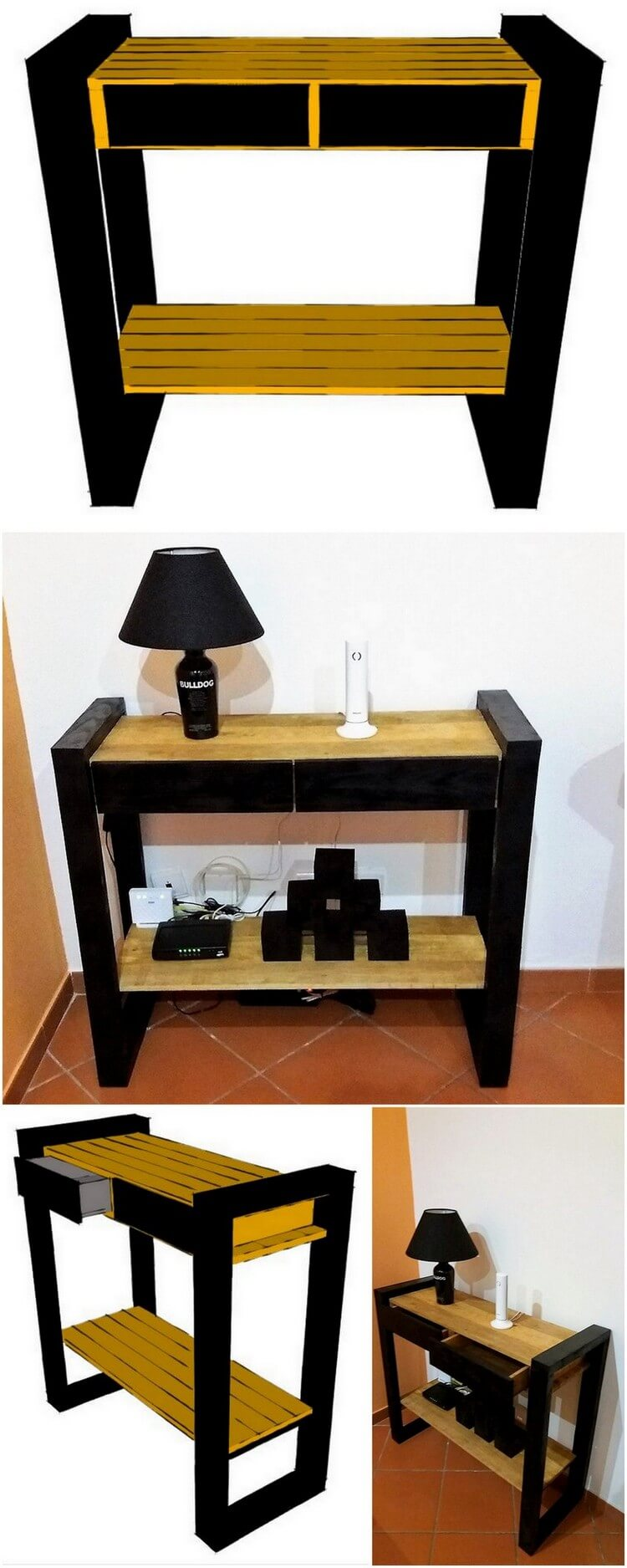 DIY Wood Pallet End Table