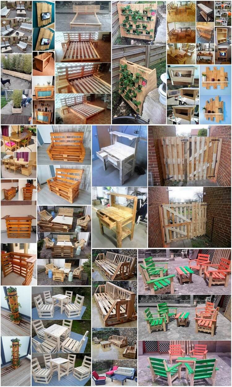 Genius Hacks with Recycled Wood Pallets