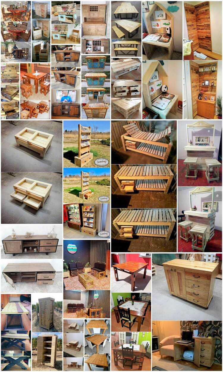 Neat and Cute Ideas with Old Wood Pallets