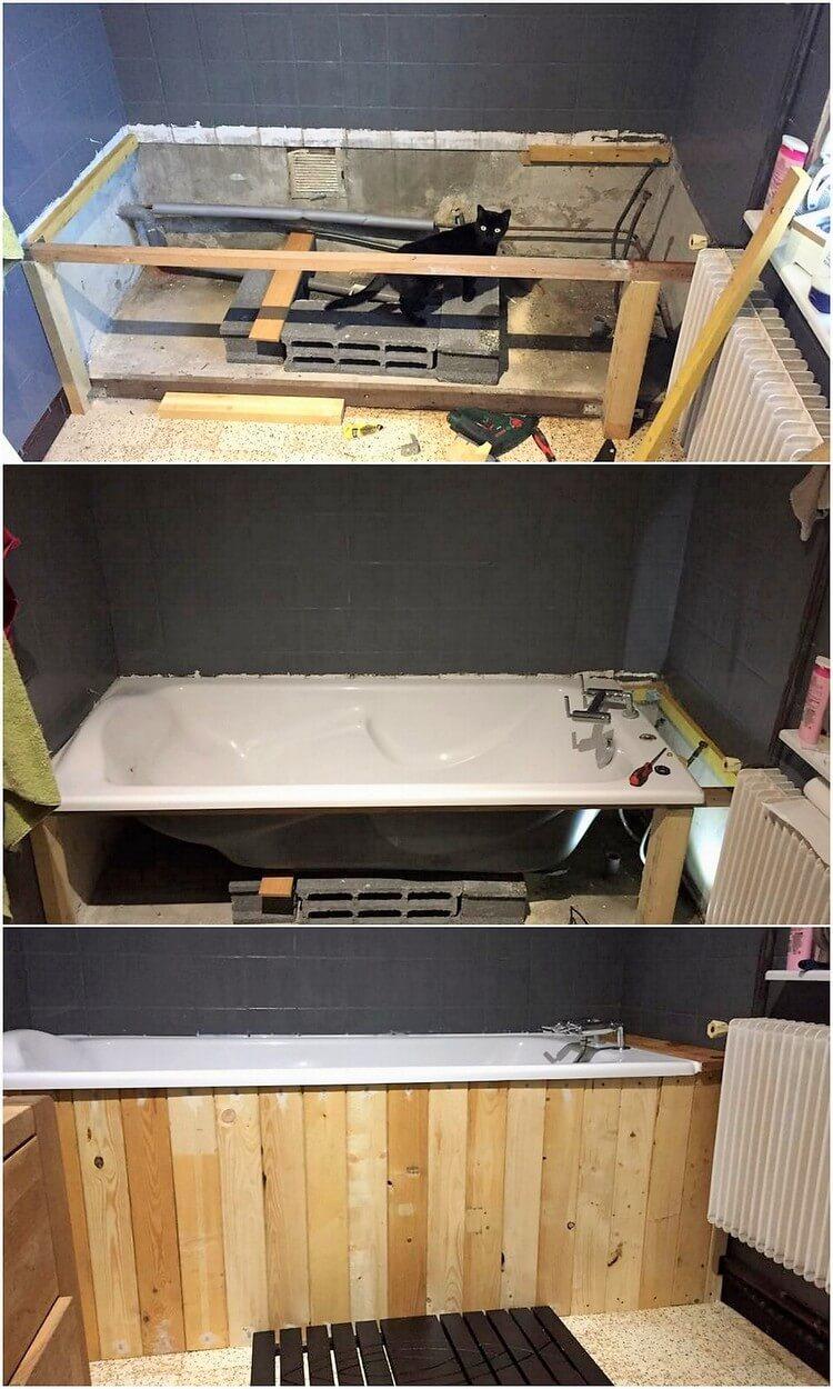 Pallet Bath Tub