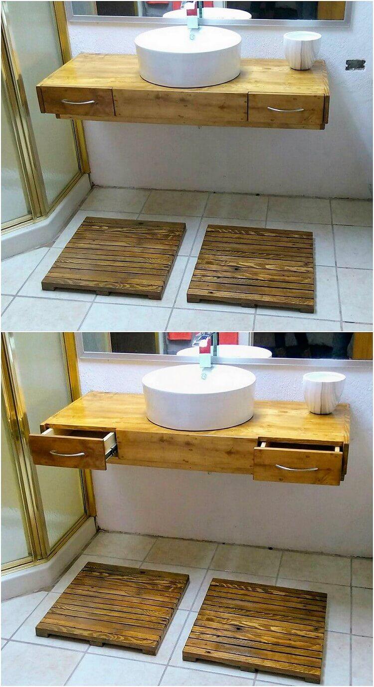 Pallet Bathroom Creation