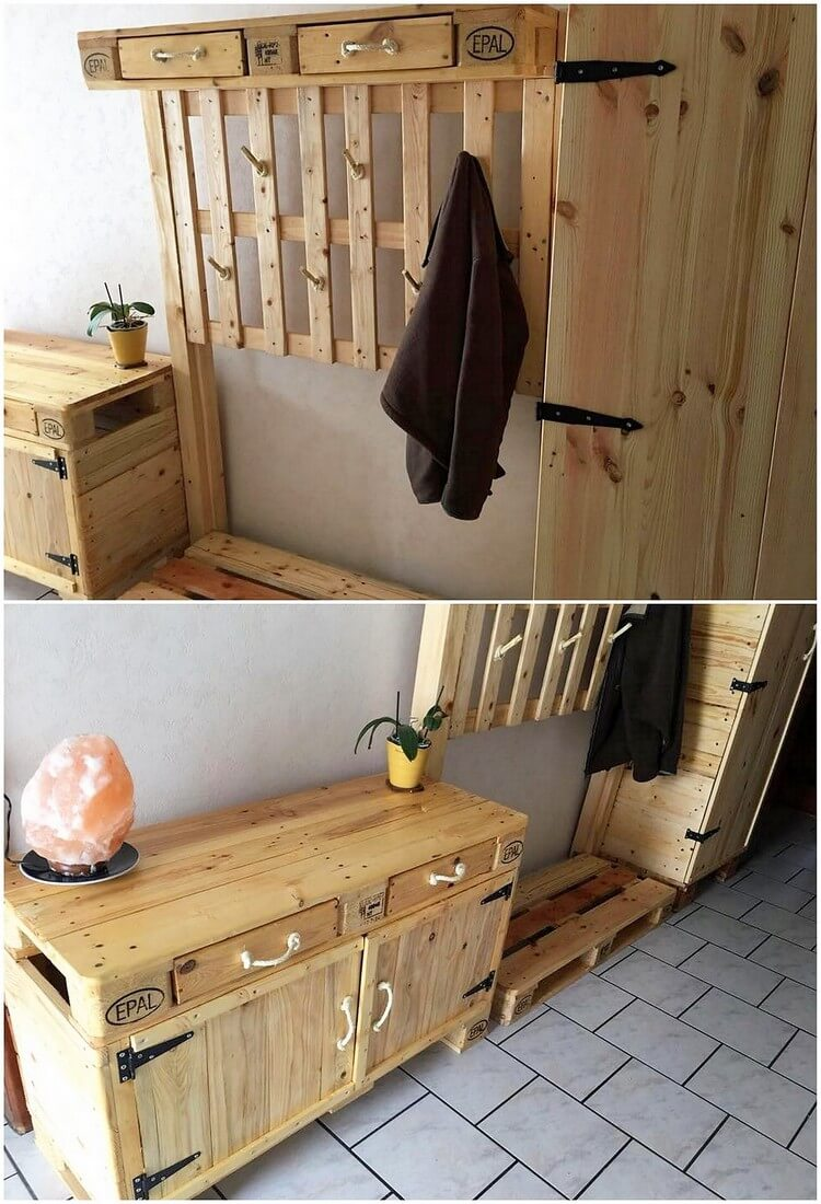 Pallet Coat Rack or Cabinet