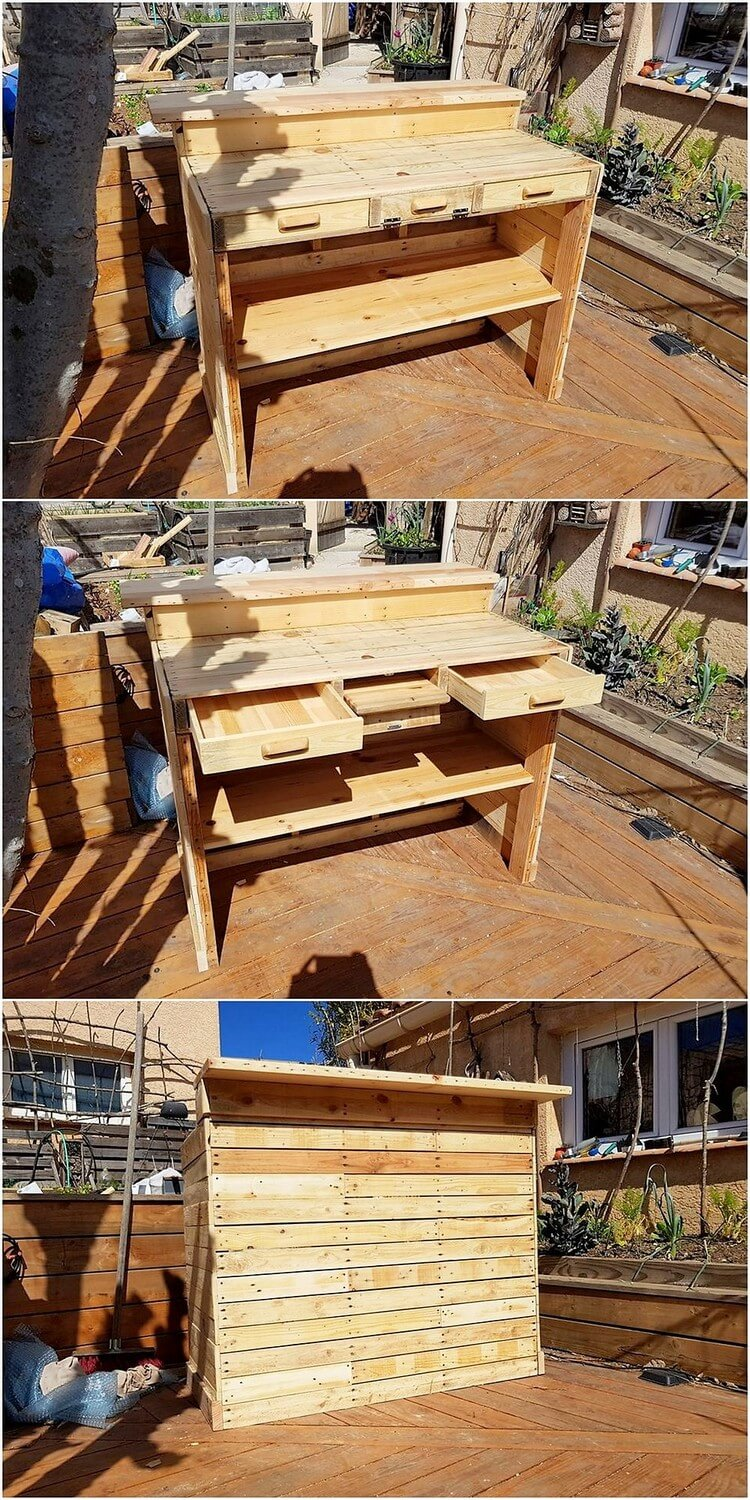 Pallet Counter Desk Table