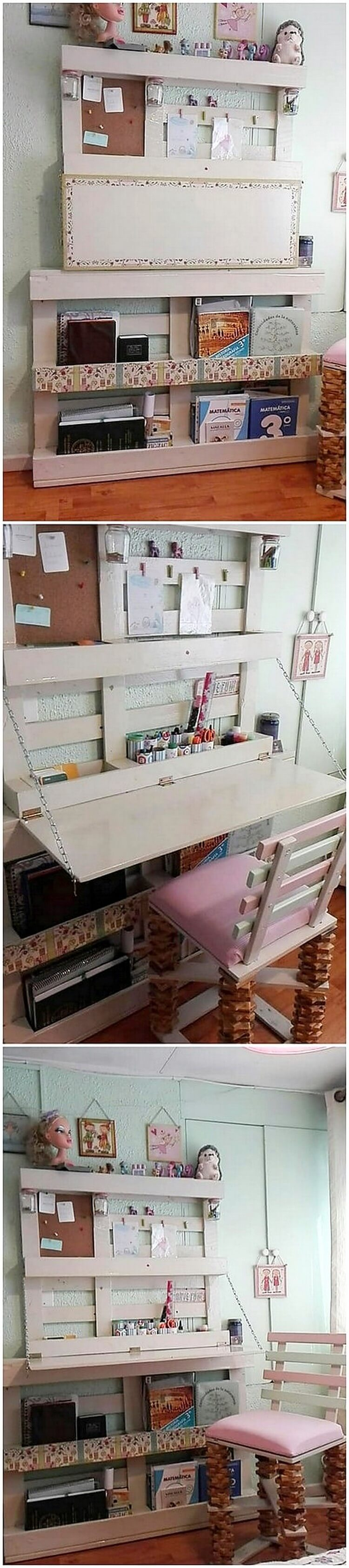Pallet Folding Desk and Chair