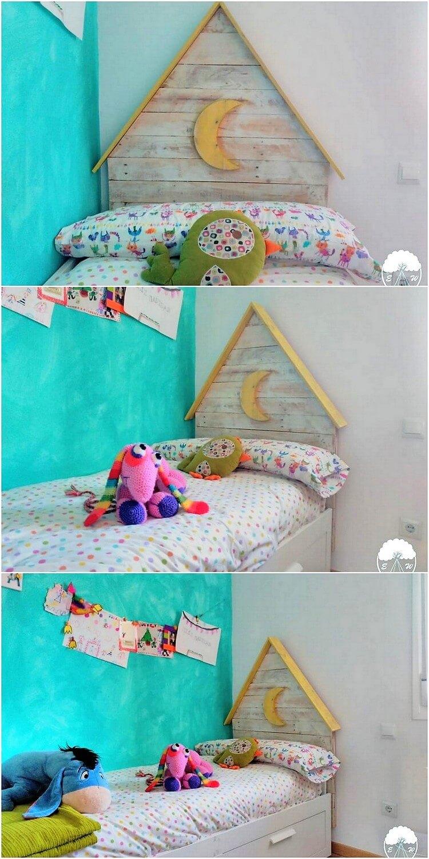 Pallet Kids Bed Headboard