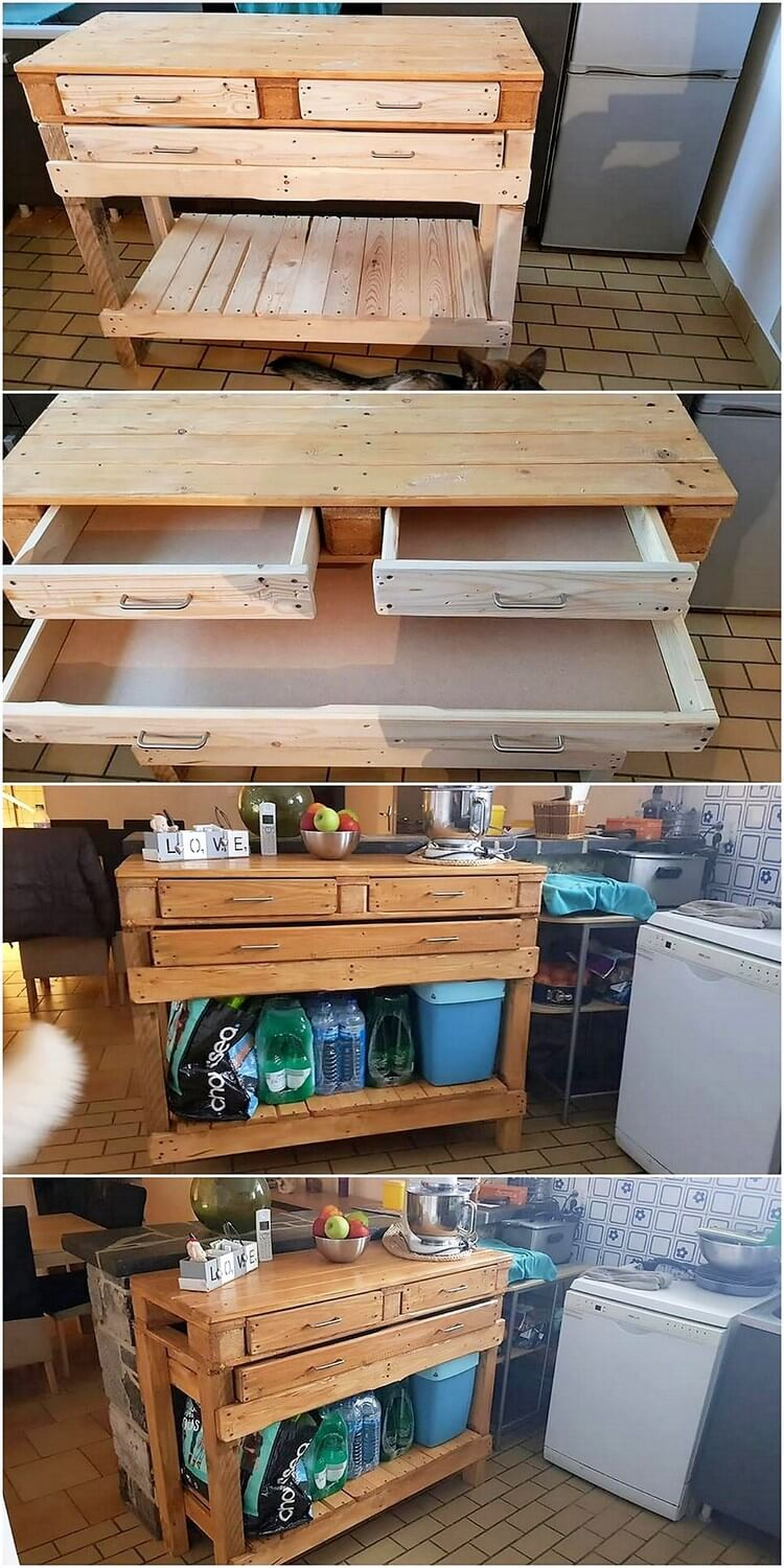 Pallet Kitchen Cabinet or Table