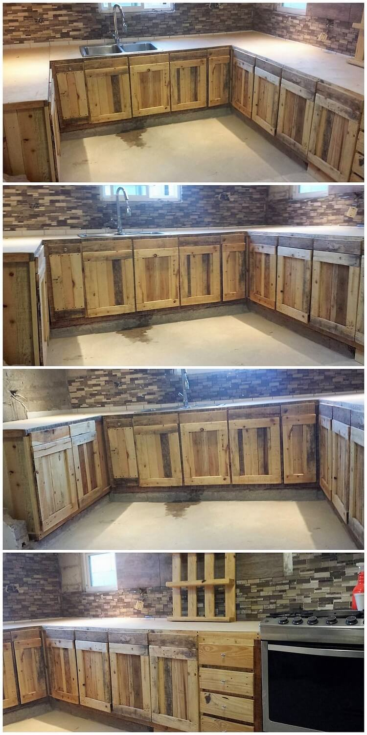 Kitchen Cabinets Made Out Of Pallet Wood