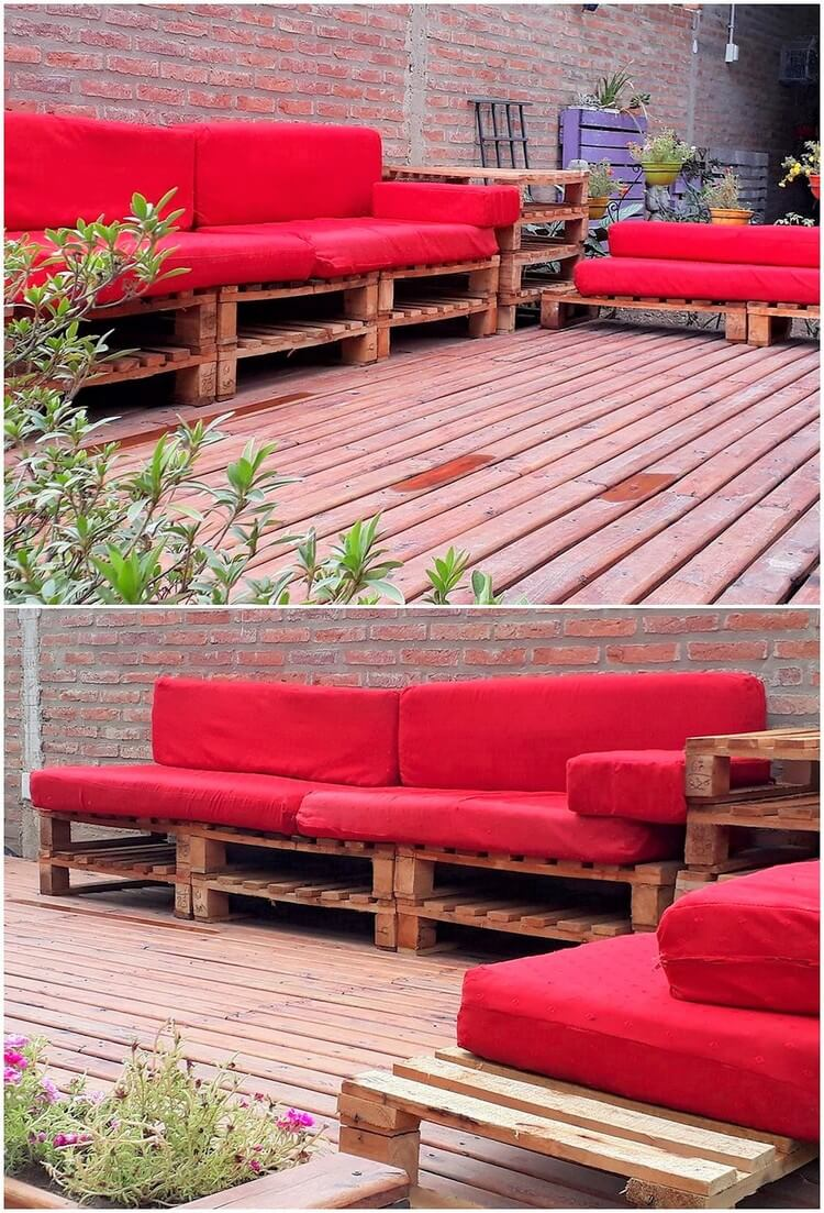 Pallet Outdoor Couch with Terrace