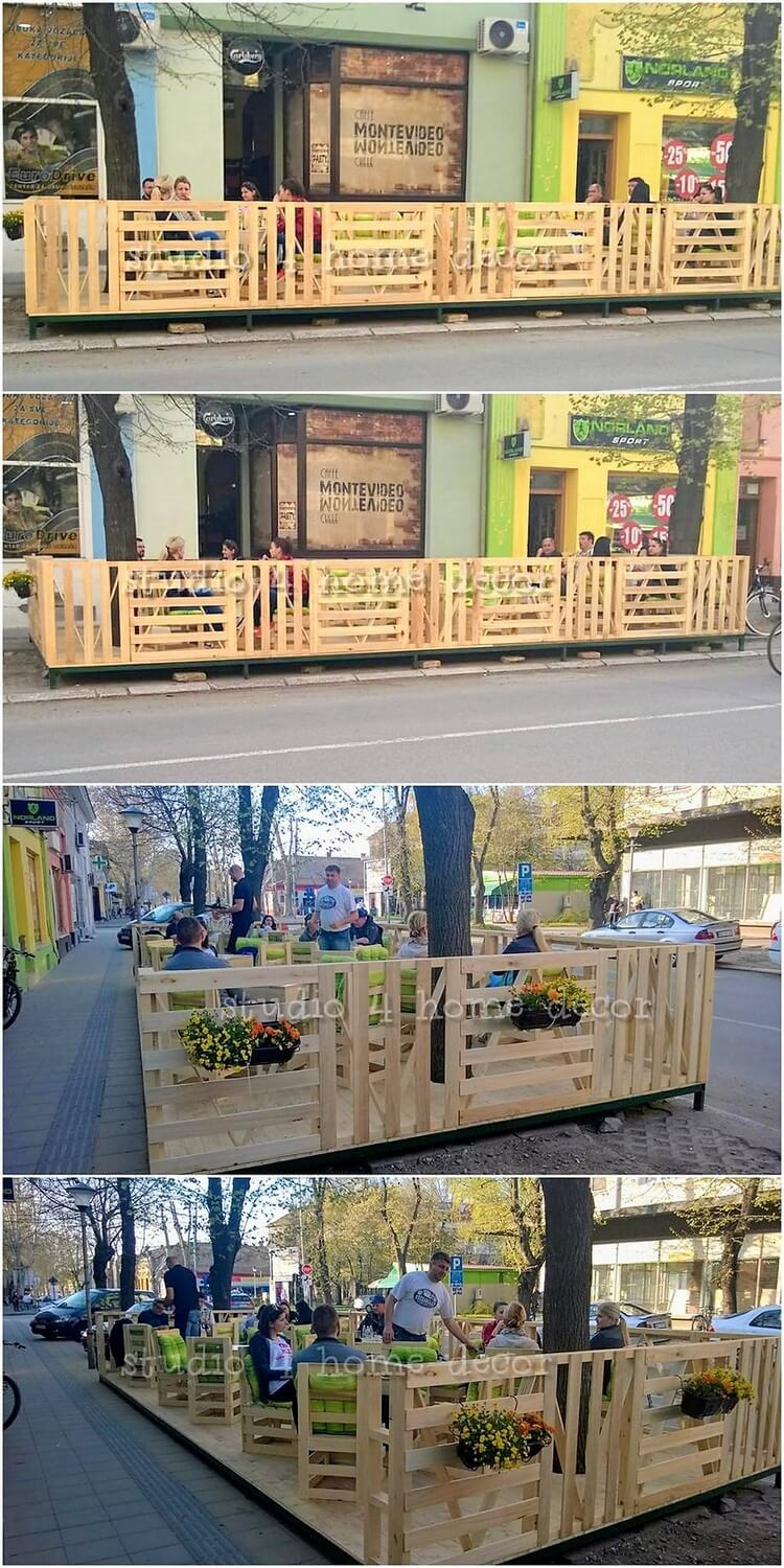 Pallet Outdoor Fence