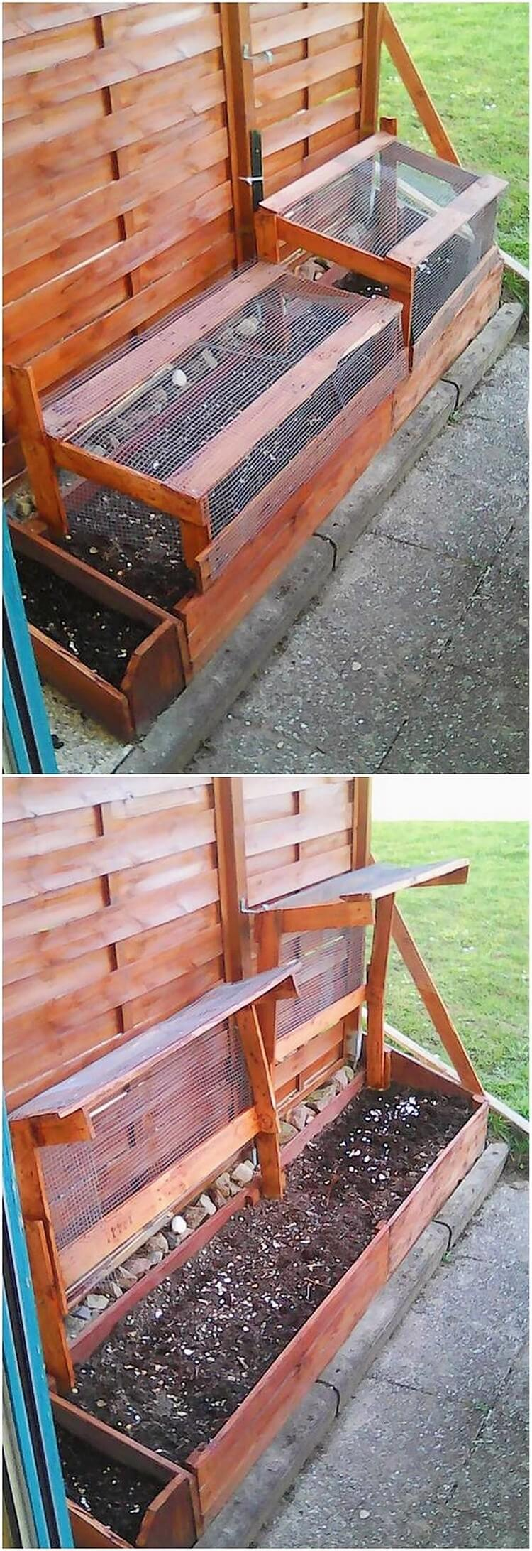 Pallet Raised Garden Bed