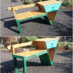 Pallet Seat with Drawer
