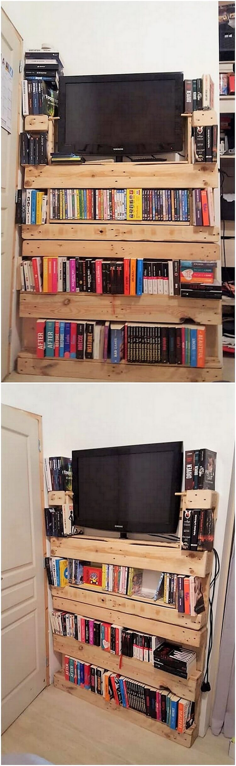 Pallet TV Stand or Bookshelf