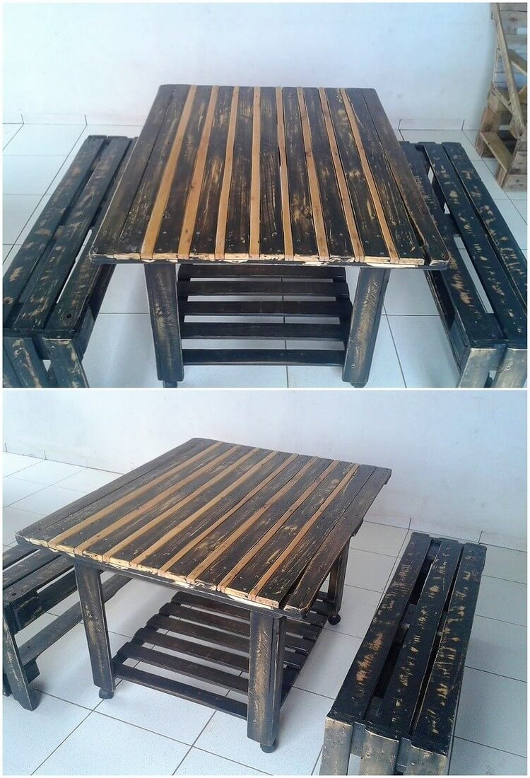 Pallet TV and Benches