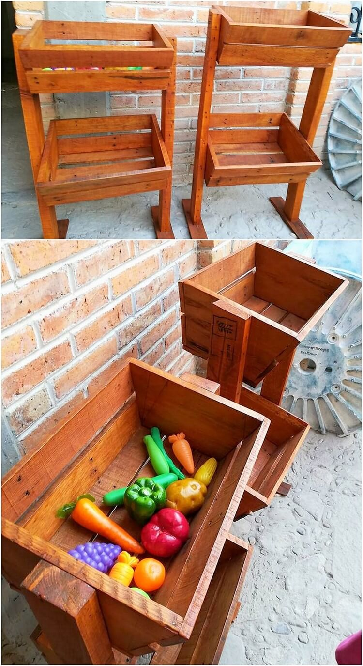 Pallet Vegetable Rack