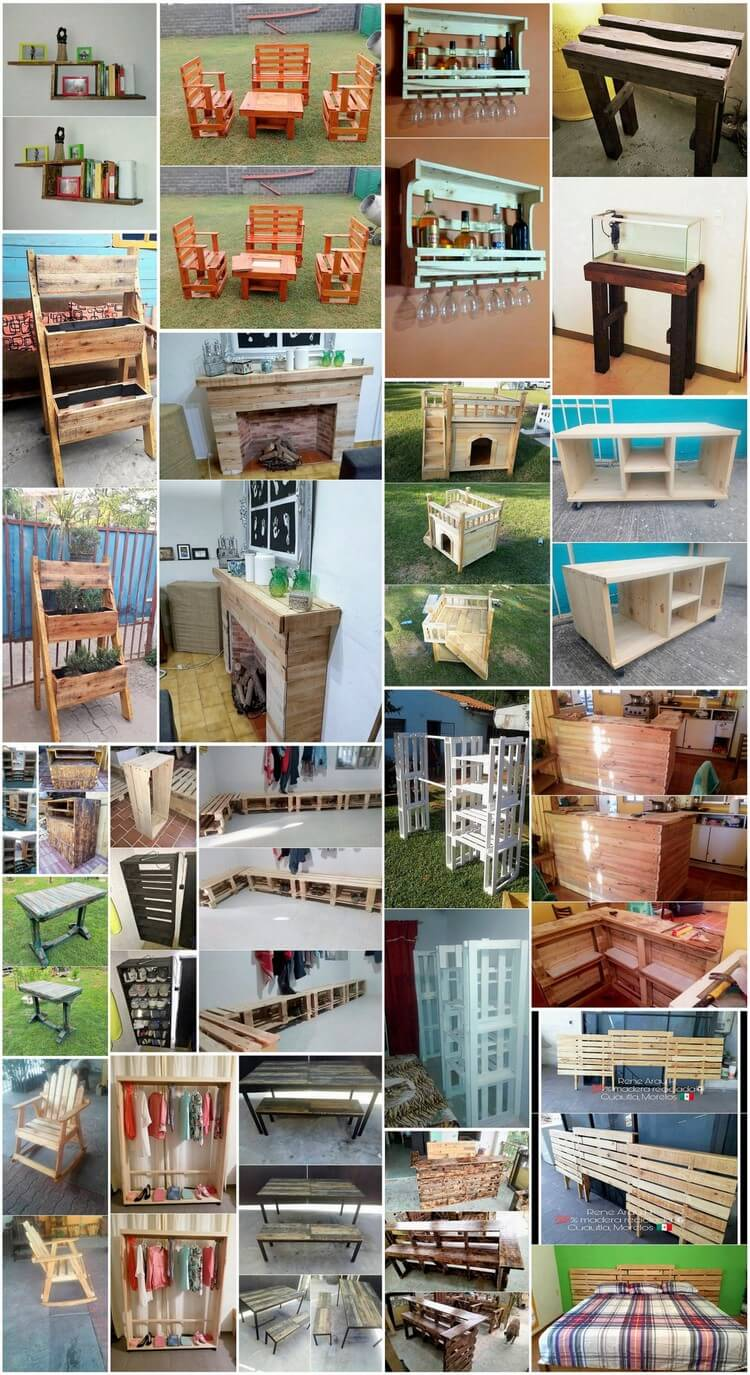 Surprising Projects Made with Old Wood Pallets