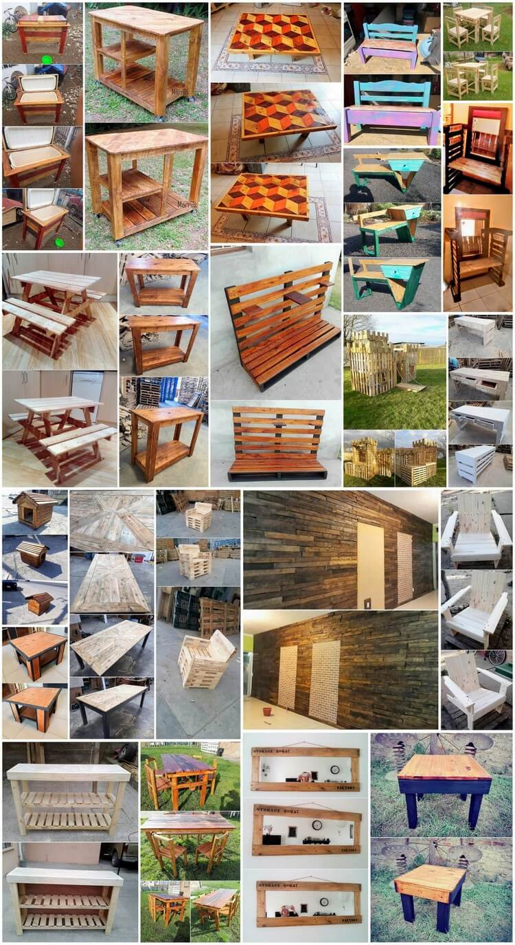 Unbelievable DIY Recycled Wood Pallet Projects