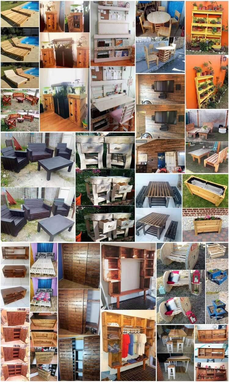 Wondrous Ideas for Wasted Wood Pallets Reusing