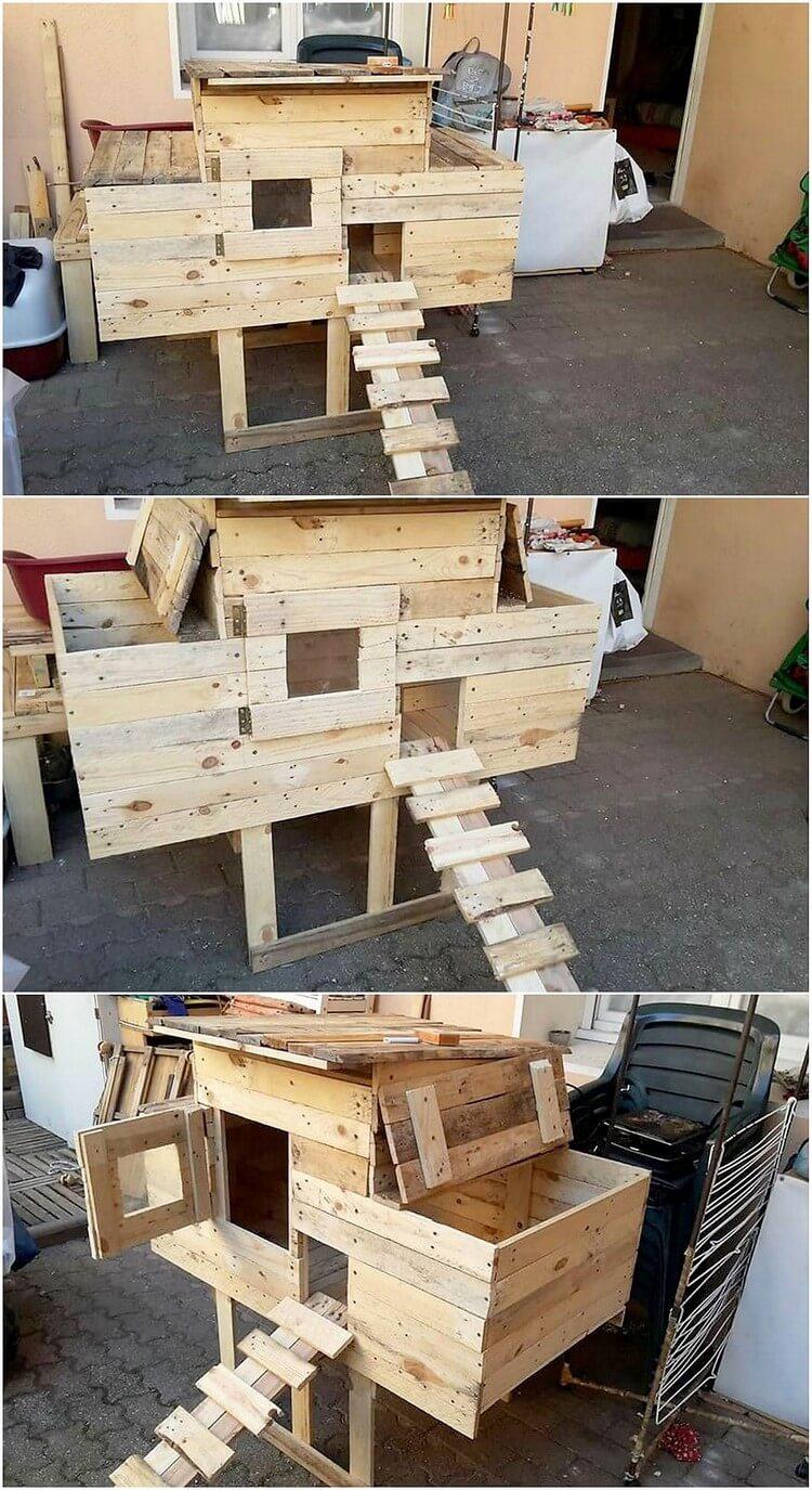 Wood Pallet Chicken Coop