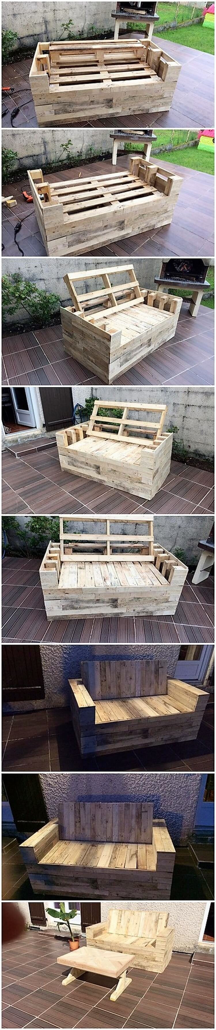 DIY Pallet Bench and Table