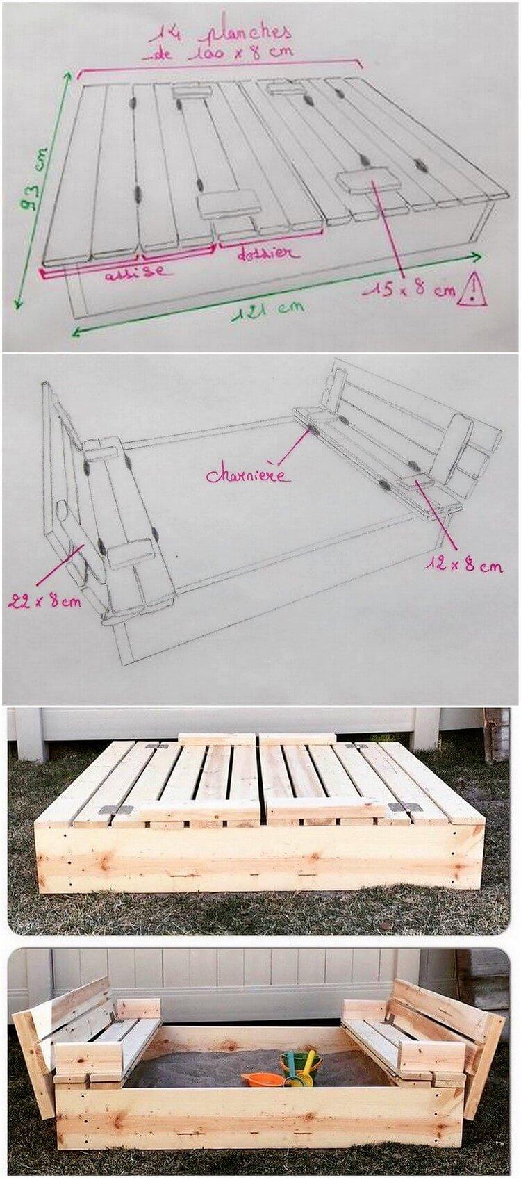 DIY Pallet Sandbox for Kids