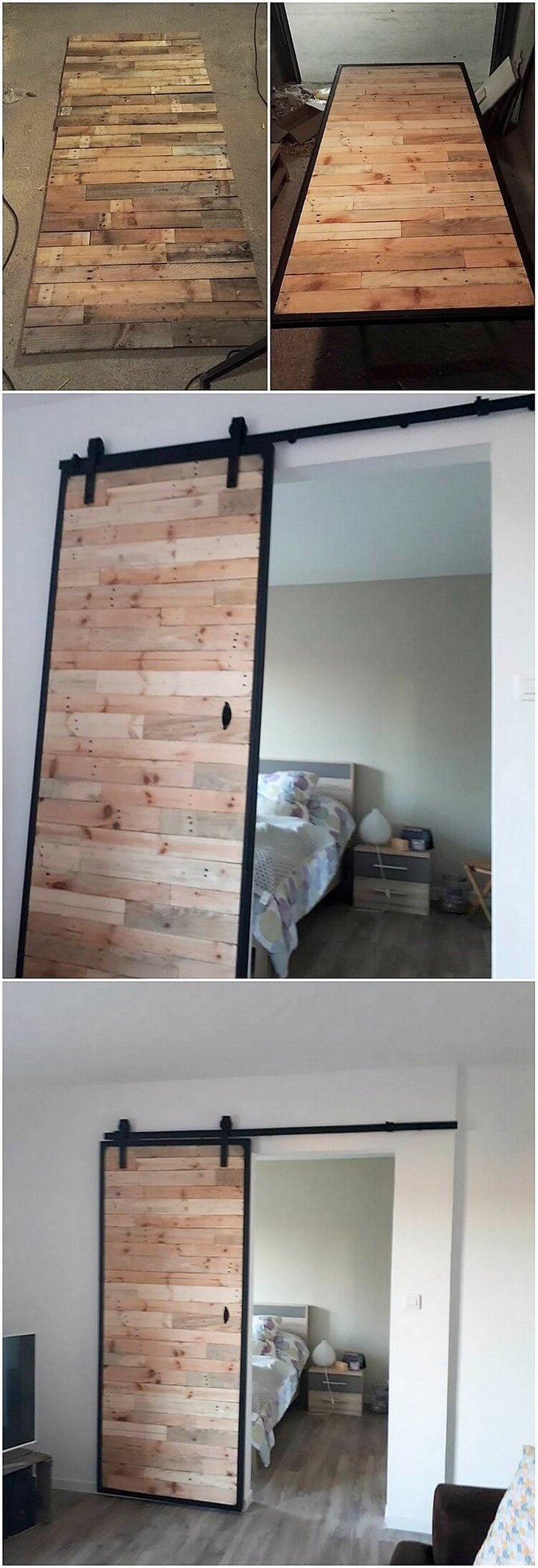 DIY Pallet Sliding Door