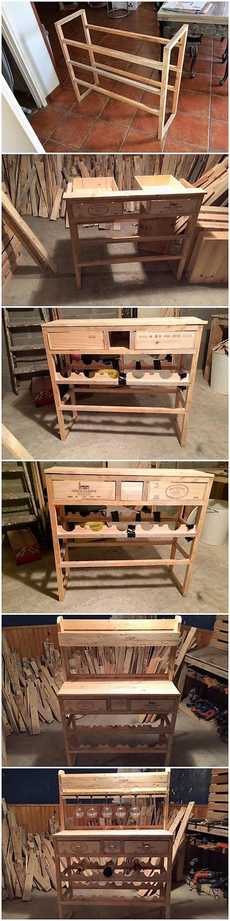DIY Pallet Table or Cabinet