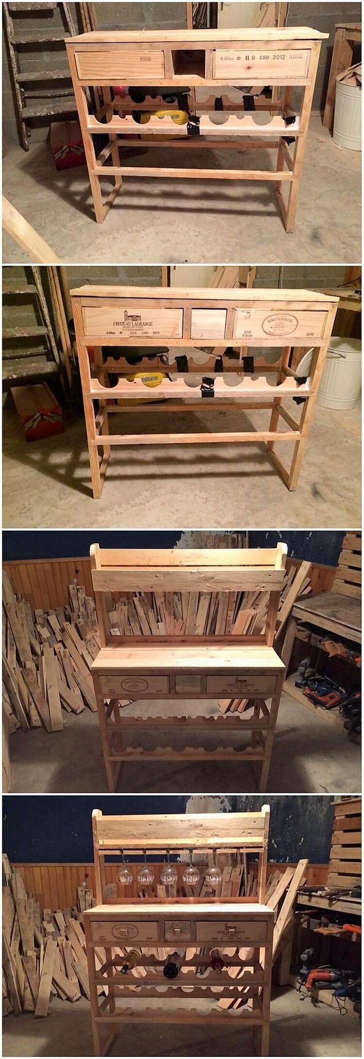 DIY Pallet Wine Rack Table