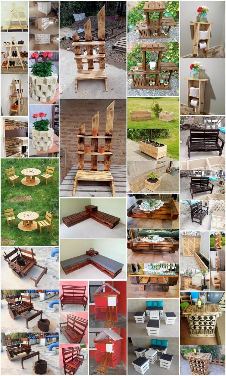 Different Ideas for Old Wood Pallets Reusing