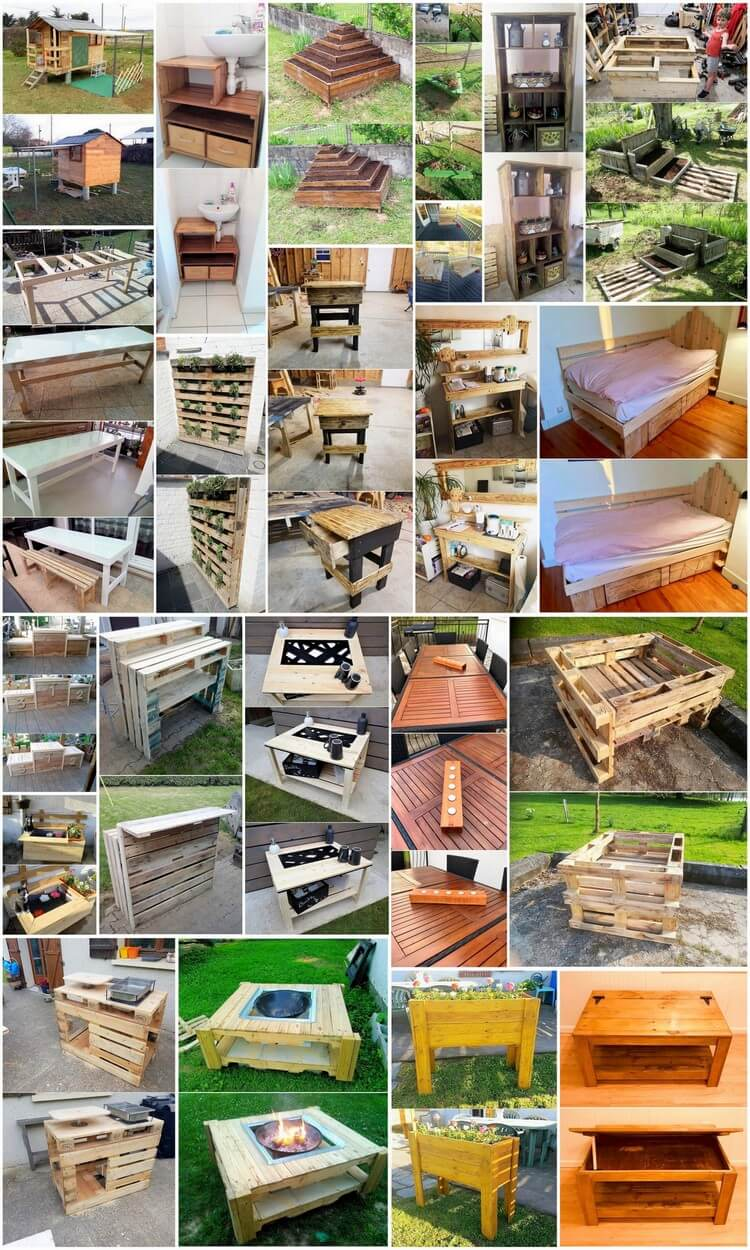 New and Modern Wood Pallet Projects and Plans
