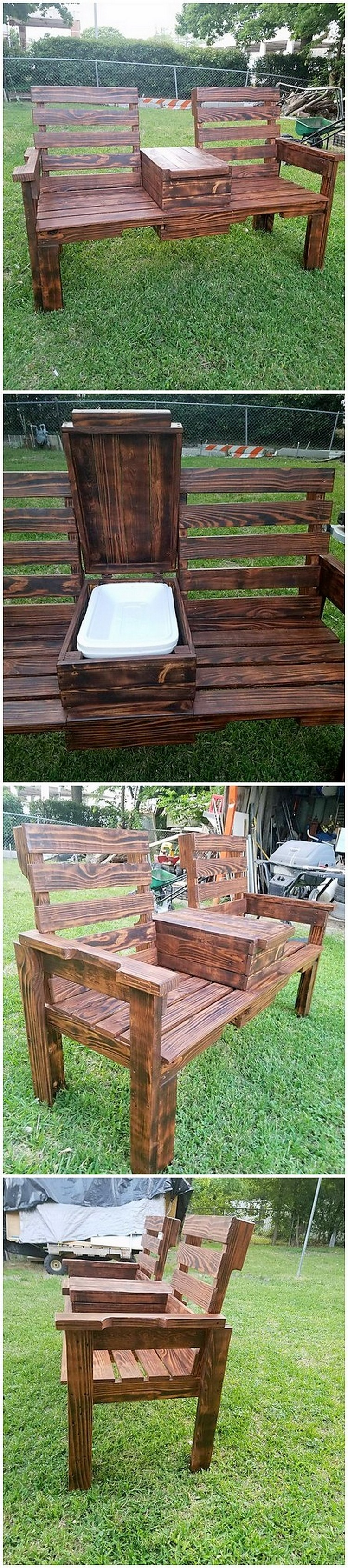 Pallet Chairs with Cooler