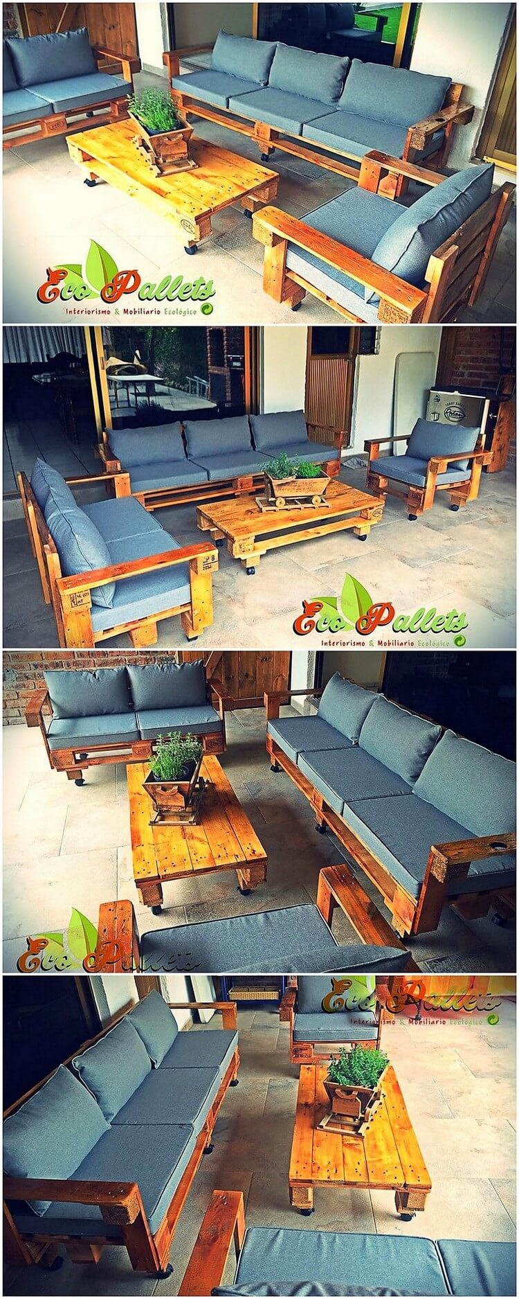 Pallet Couch Set and Table